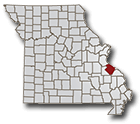 Map showing location of Ste. Genevieve County in Missouri
